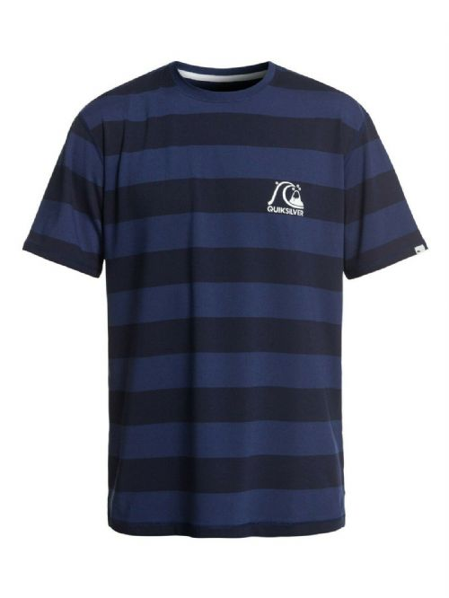 QUIKSILVER MENS RASH T SHIRT.NEW STRIPE SEA UPF50+ SUN PROTECTION RASH TOP 9S 50
